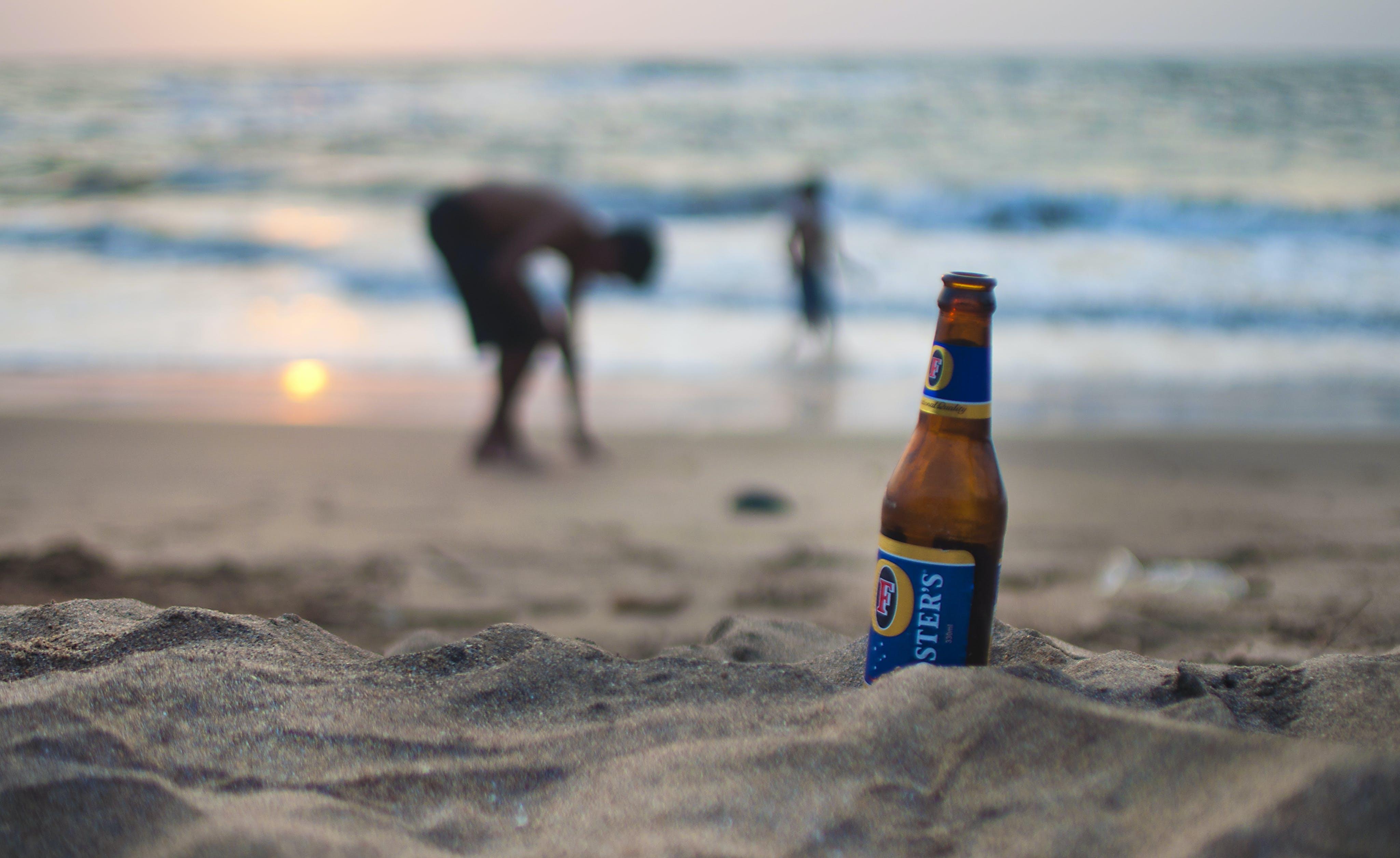 alkoholisches getränk, bier, dämmerung