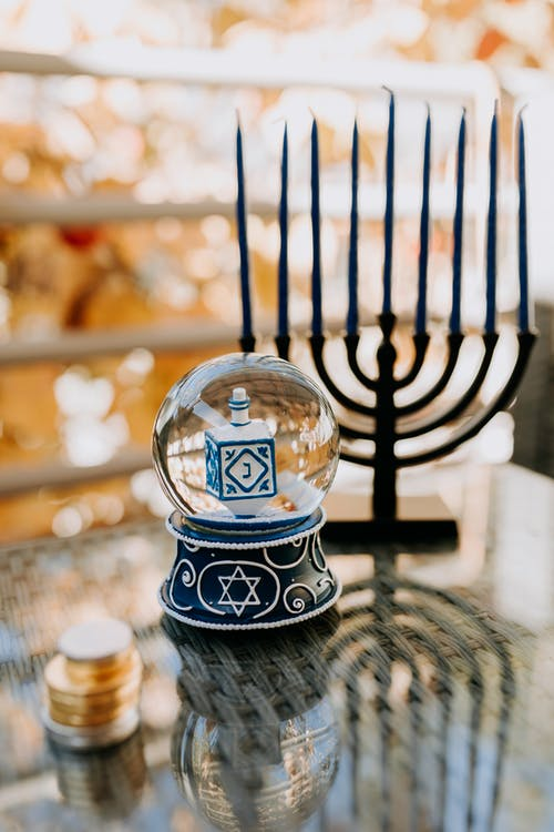 Photo Of Candle Holder Beside Snow Globe