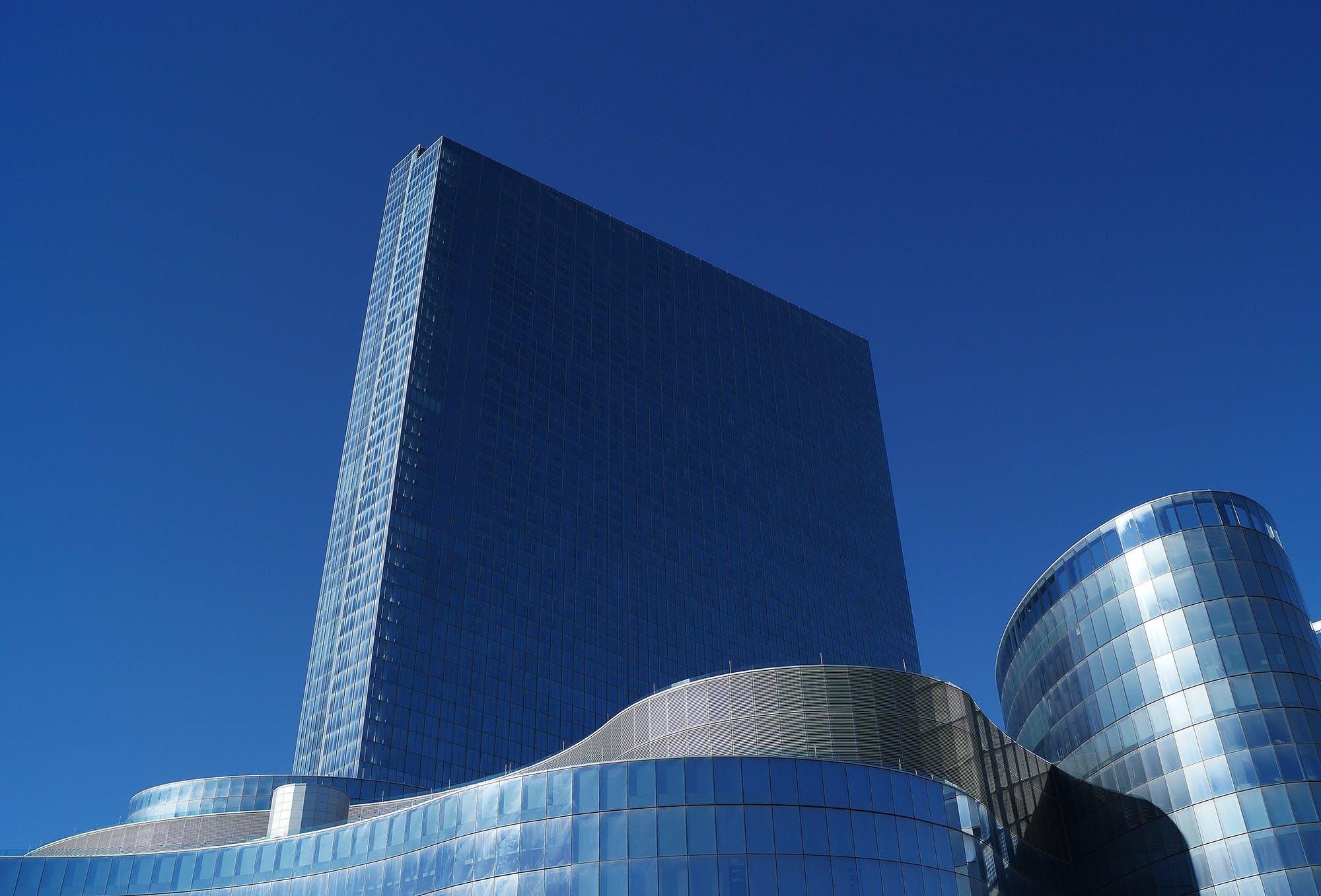 Blue Concrete Building Under Blue Sky