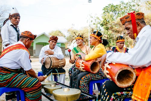 People Playing Traditional Musical Instruments