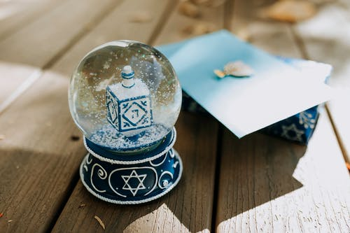 Close-Up Photo Of A Snow Globe On Wooden Surface