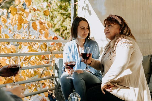 Photo Of Women Drinking Wine Together