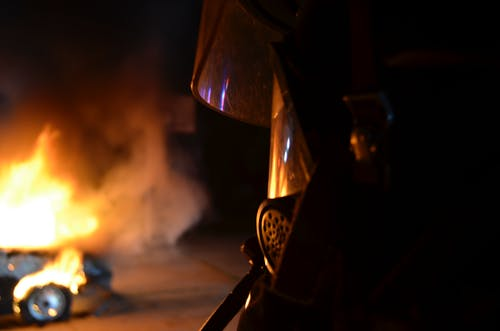 Free stock photo of firefighter, incendie