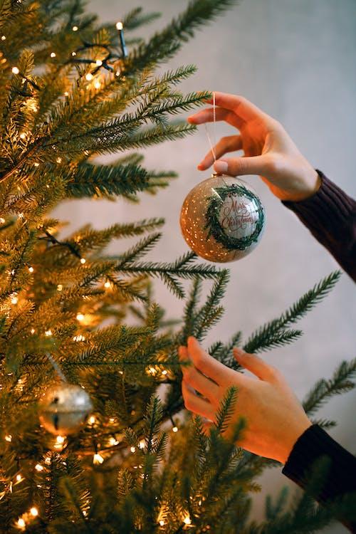 圣诞树上的金银小玩意