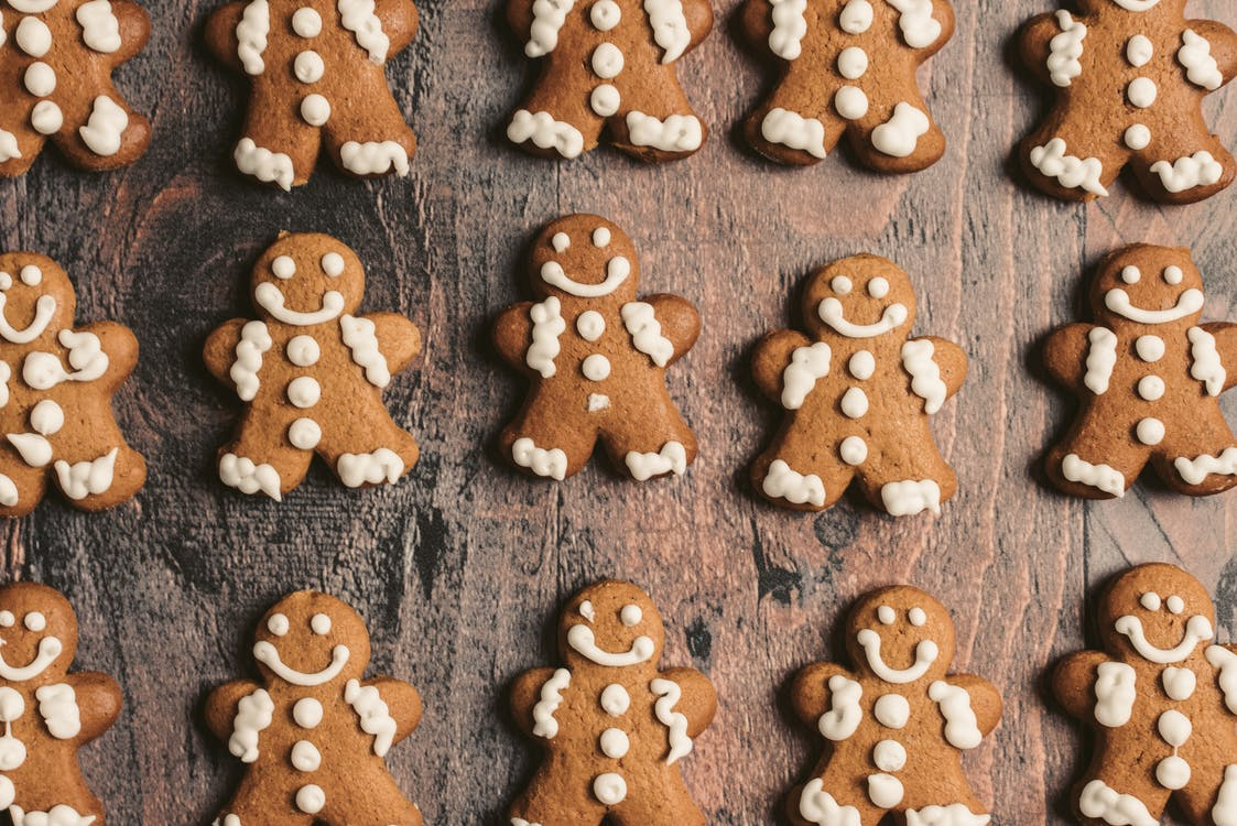 Brown and White Bear Shaped Cookies