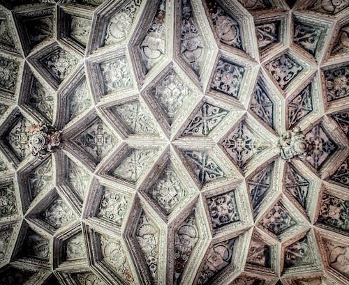 Gratis stockfoto met motieven, patroonvormen, plafond, symmetrie