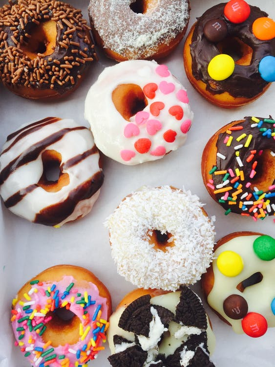 color, colorful, donuts