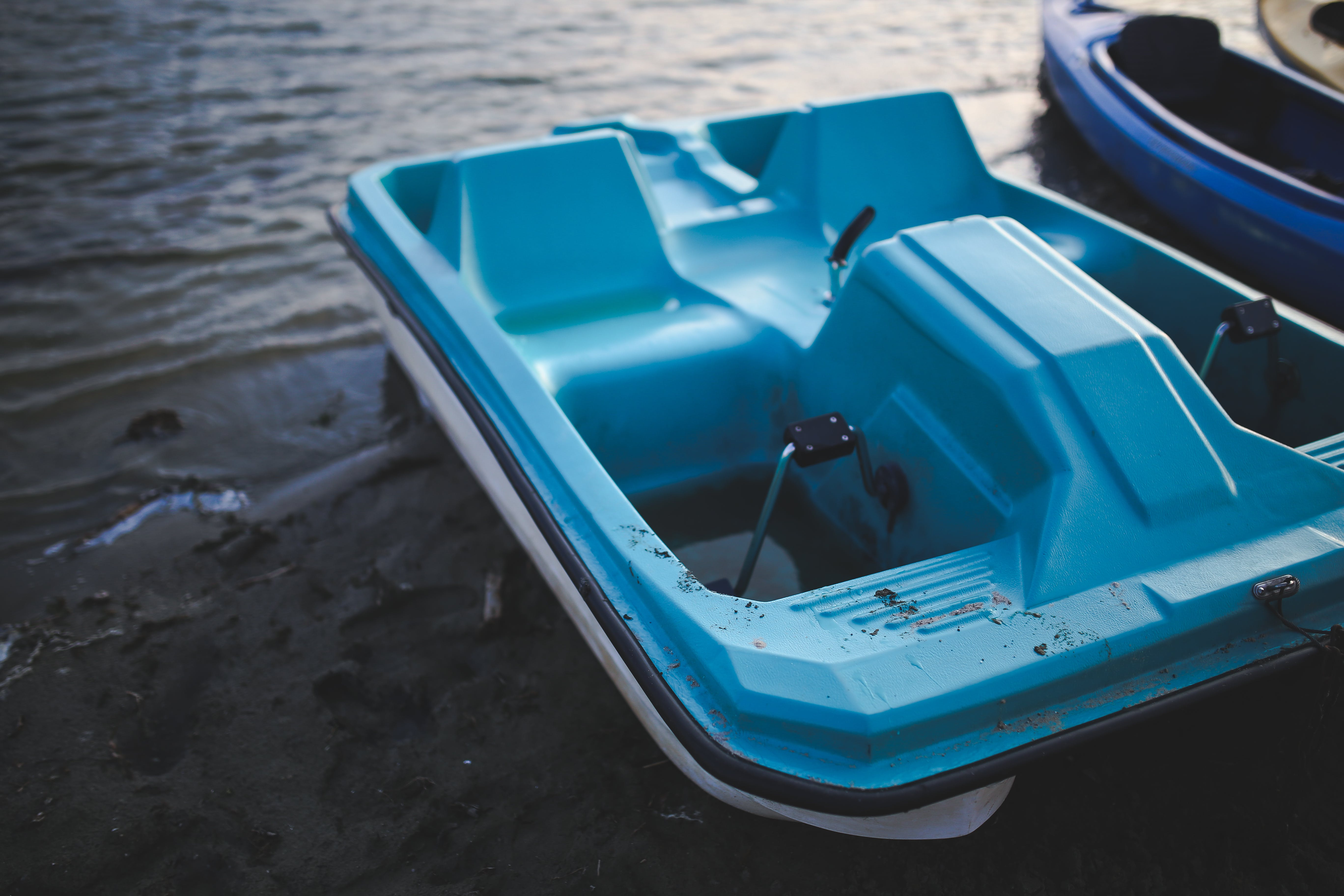 Blue Pedalo at Lake