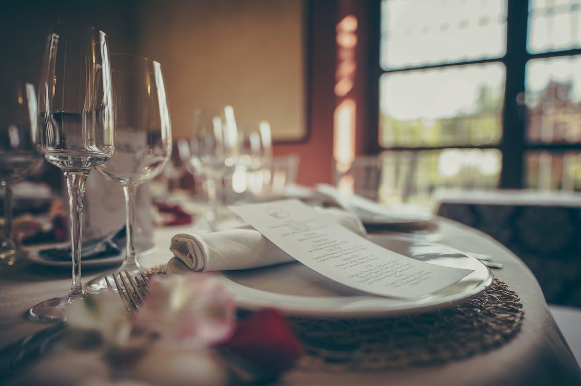 alat makan, aturan meja, barang kaca