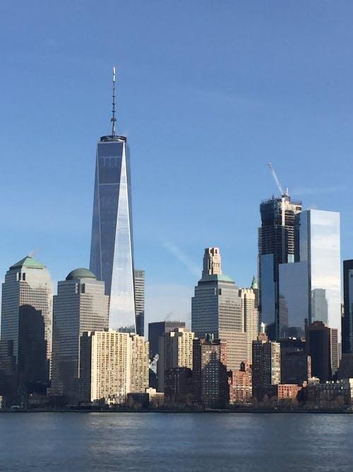 Free stock photo of new york, skyscraper, waterfront