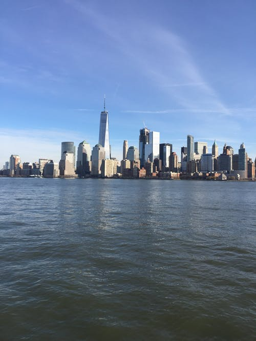 Free stock photo of new york city, skyscrapers, water