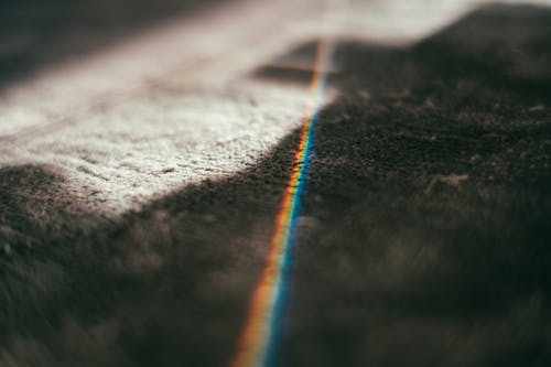 Texture of soft carpet with prism light