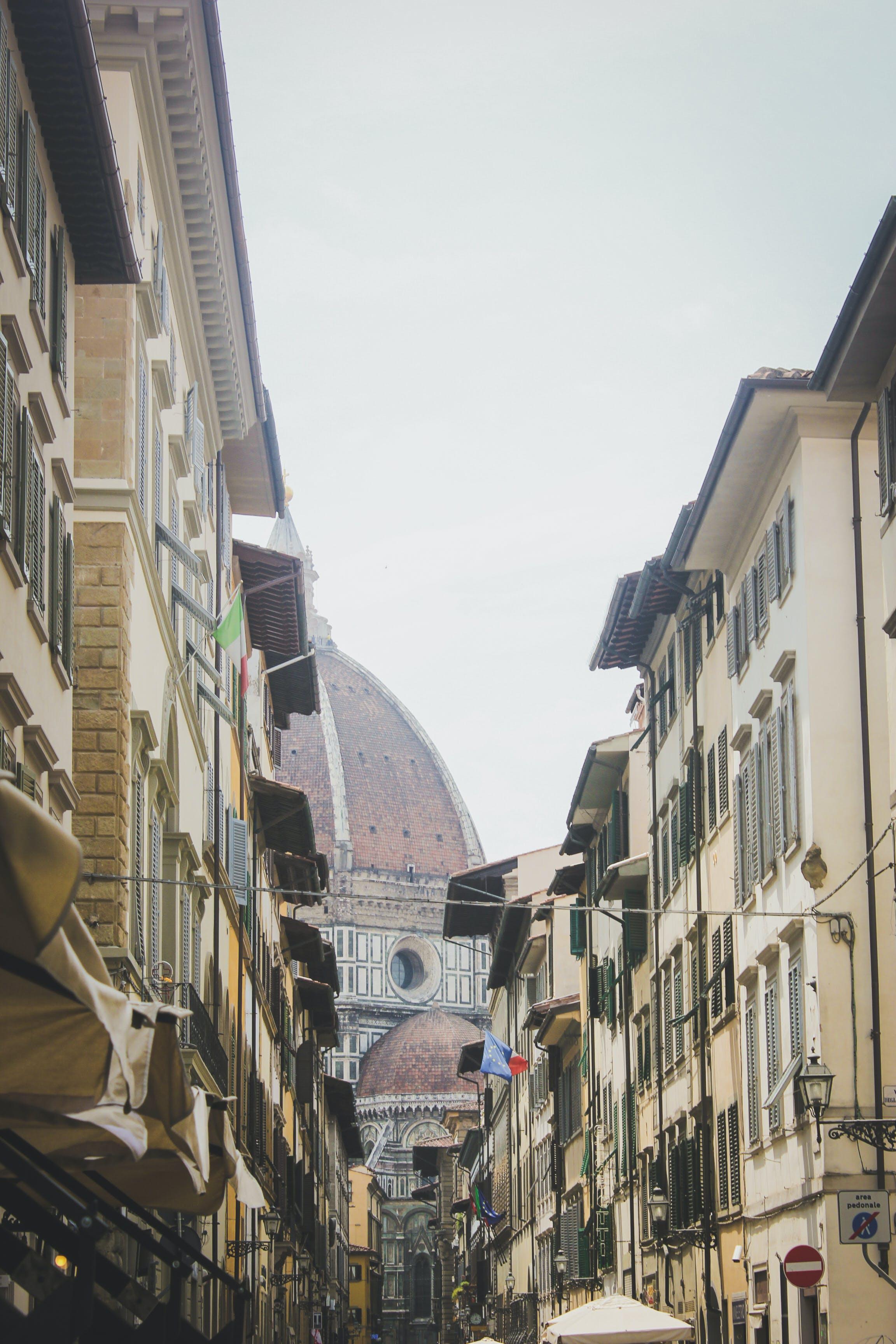 Free stock photo of city, street, building, italy