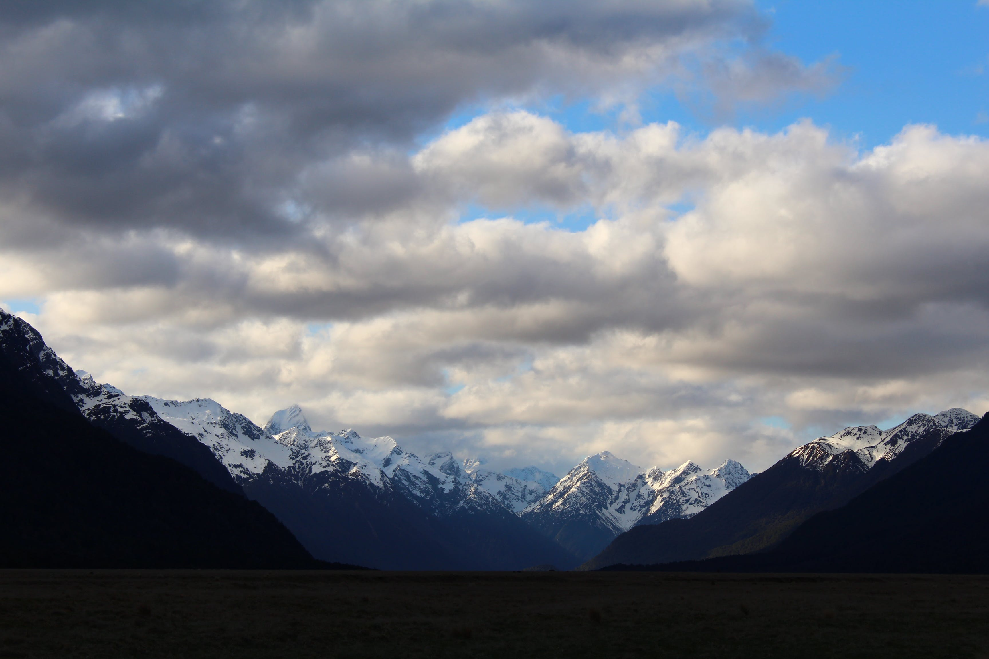 Free stock photo of cloudy sky, mount cook, mountains, new zealand