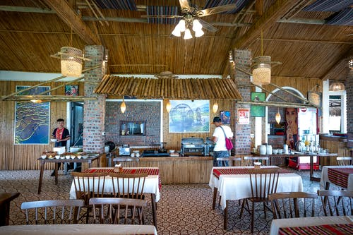 Small cafe in tropical resort