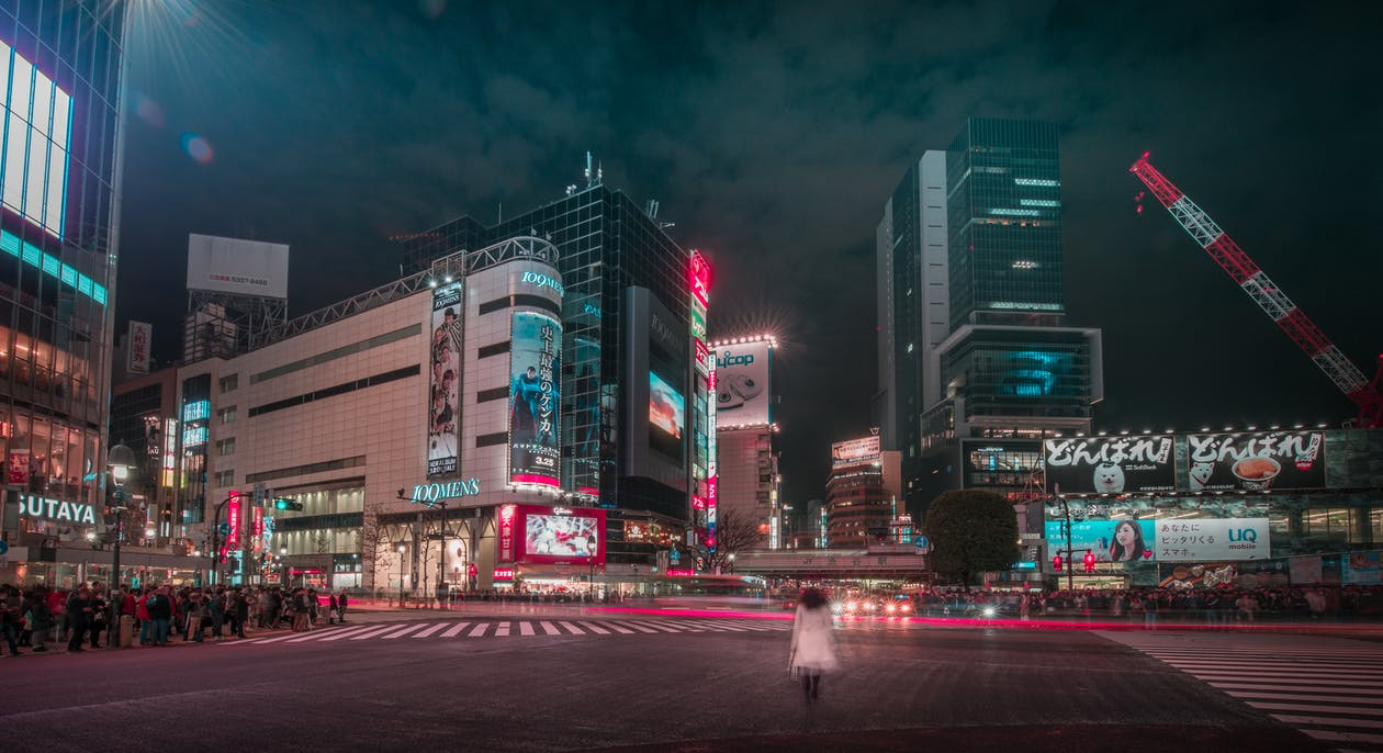 Free stock photo of colors, crossing, japan