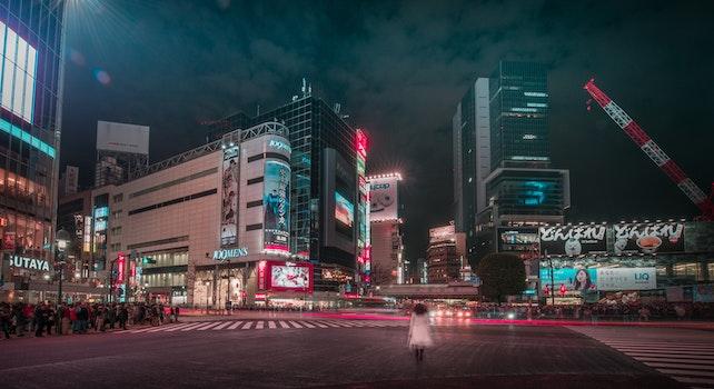 Free stock photo of crossing, woman, night, street