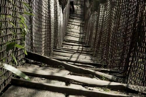 Free stock photo of hanging bridge, Manaslu trek, wooden bridge