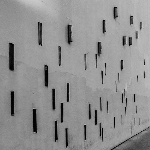 Holes Slot on a Concrete Wall