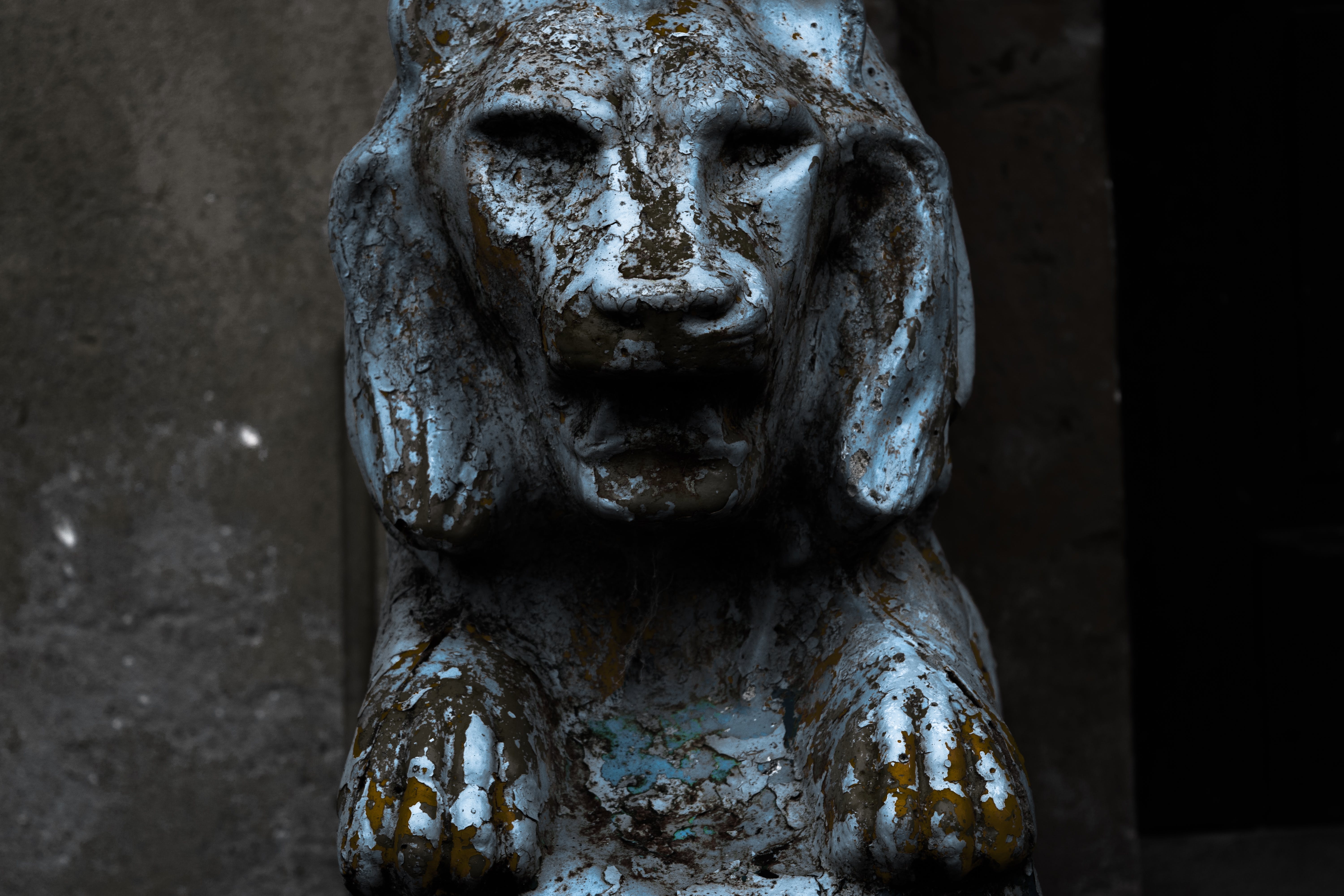 Free stock photo of broken, lion, ruined, scary