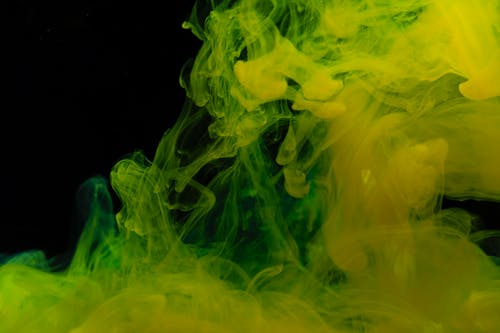 Green and Yellow Smoke Illustration