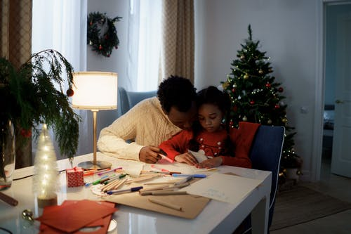 Dad and Daughter Makes a Christmas Letter