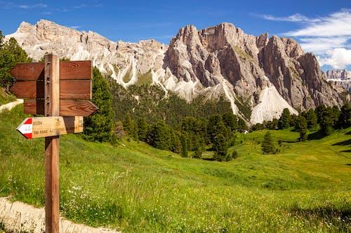 Brown Wooden House on Green Grass Field Near Mountain Range