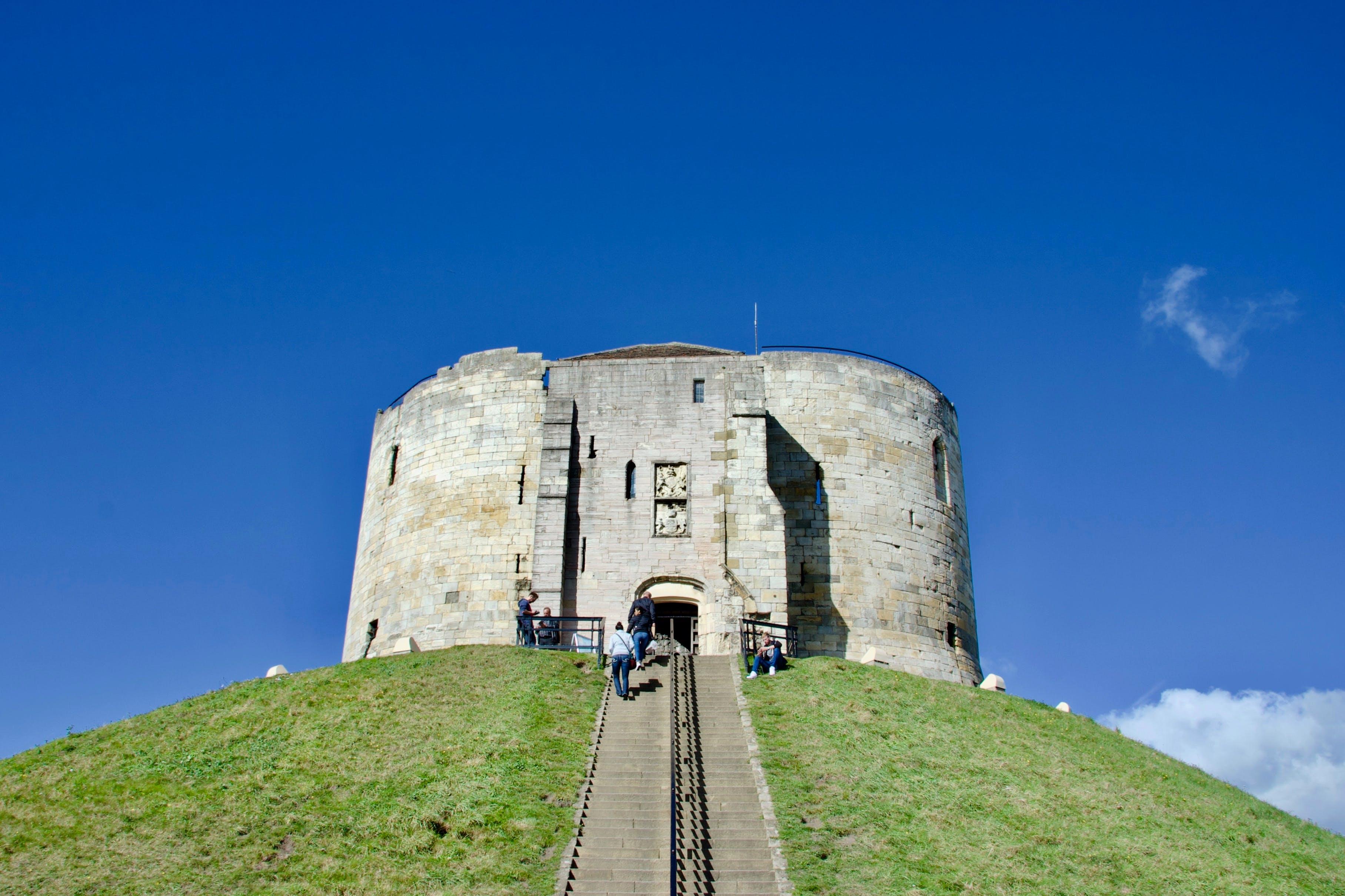 Free stock photo of blue sky, castle, keep, motte