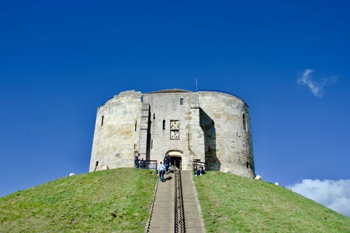 Free stock photo of blue sky, castle, keep, motte