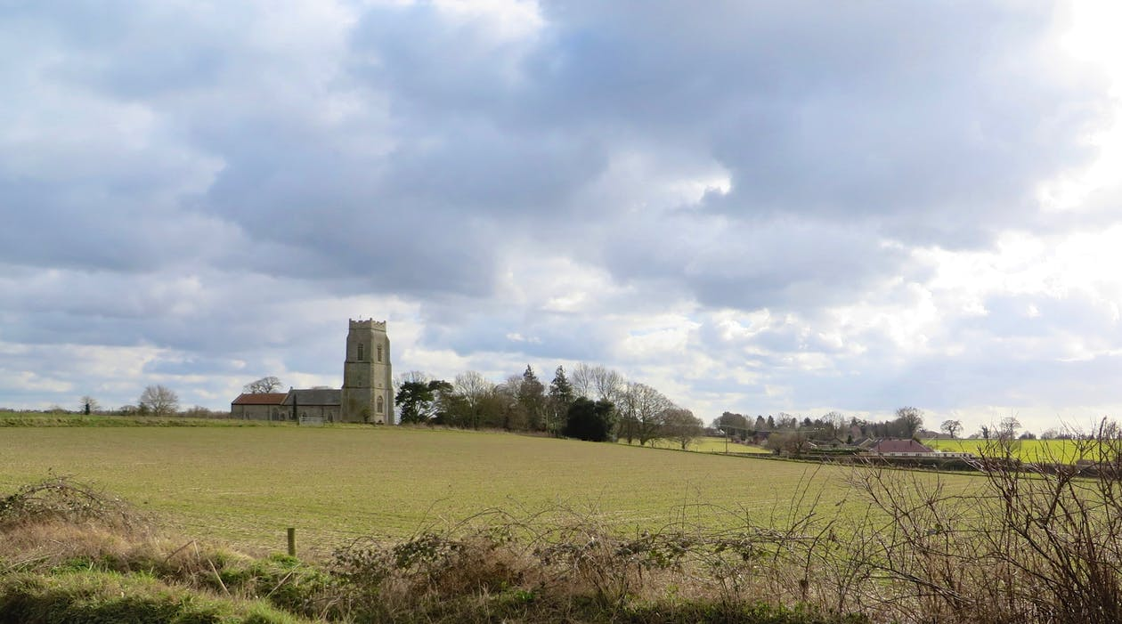 Free stock photo of church, landscape, village church