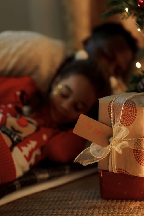 Shallow Focus of a Wrapped Christmas Present
