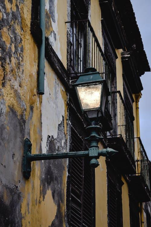 A Black Lantern on a Wall