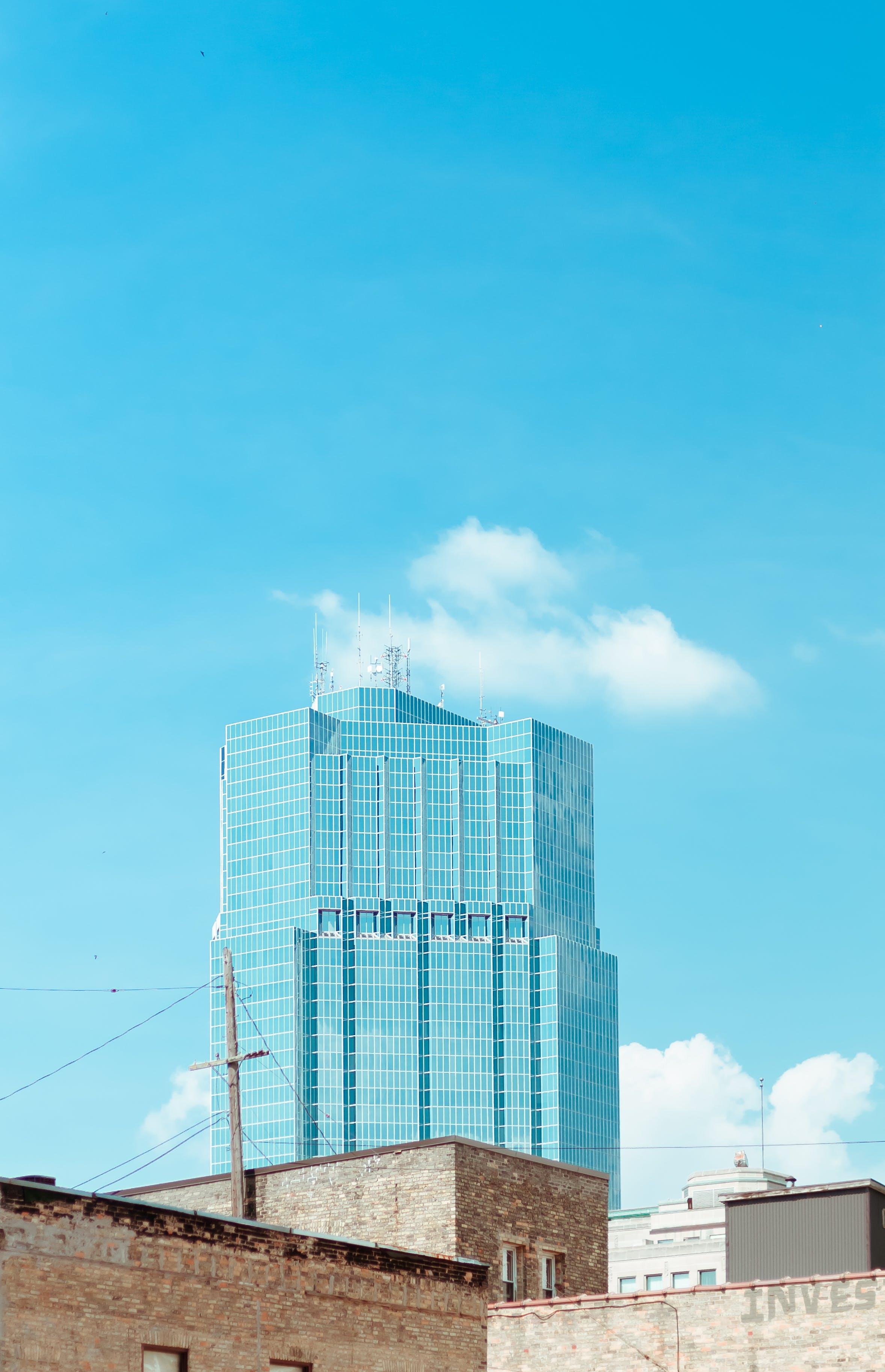 architecture, blue sky, building