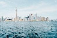 sea, city, landscape
