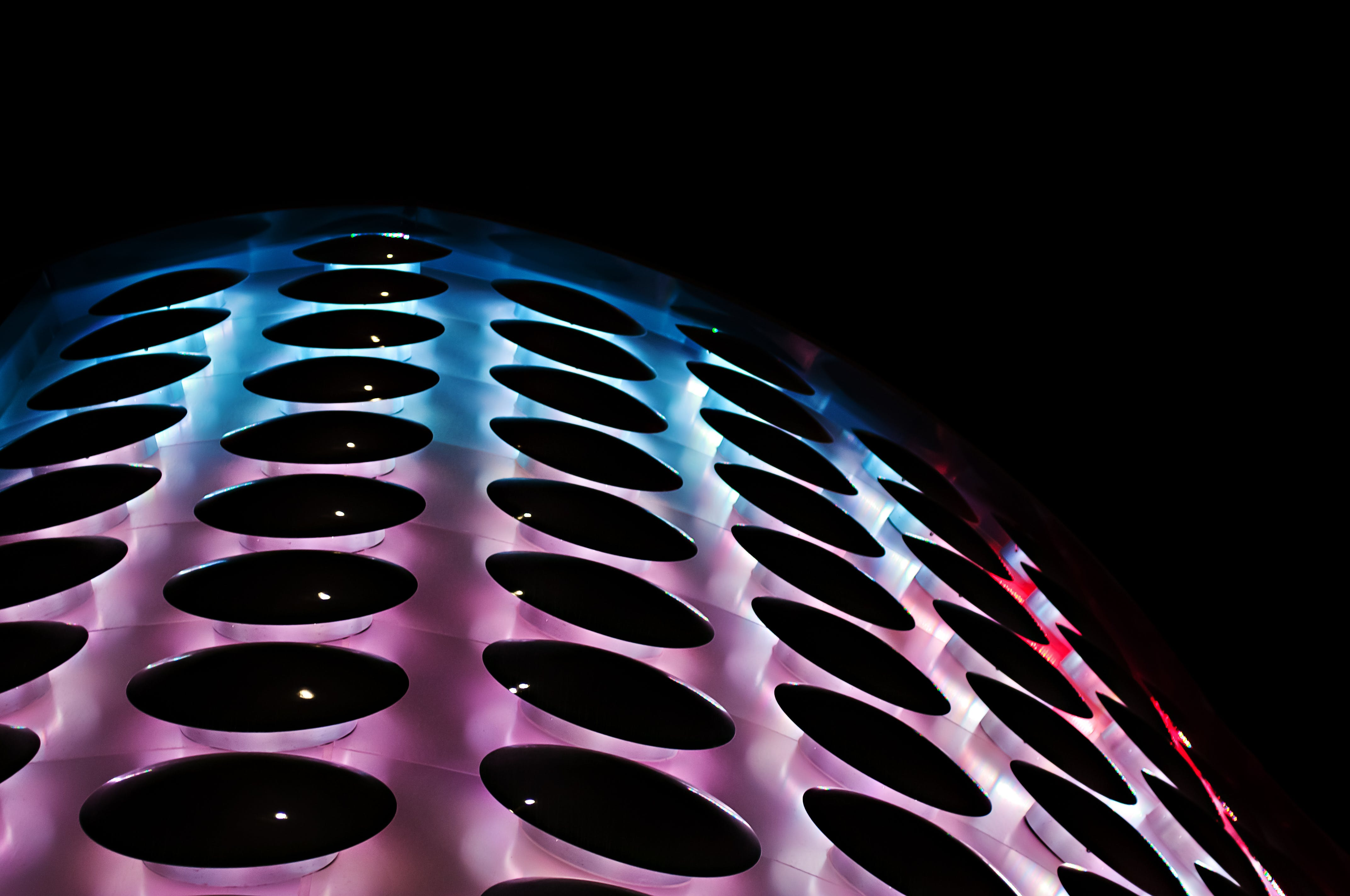 Pink and Blue Lighted Rack