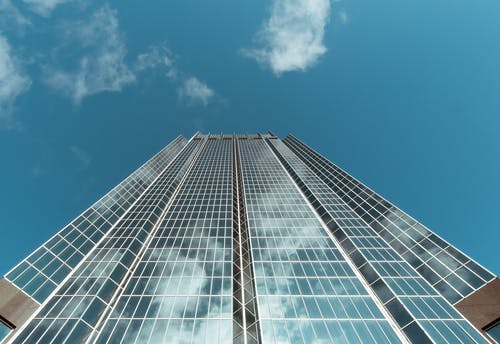 Low Angle Photography of Curtain Wall