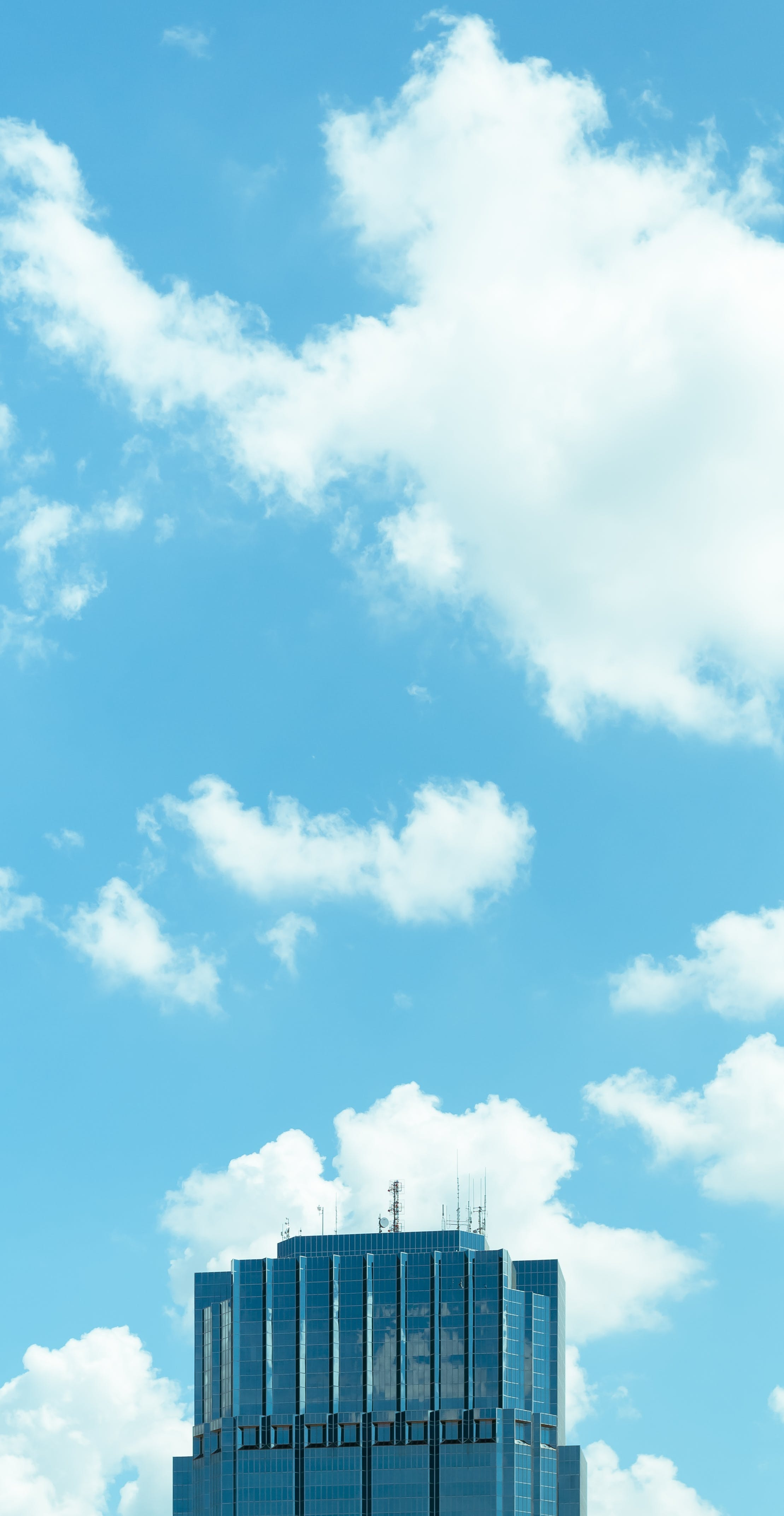 antenna, architecture, blue sky