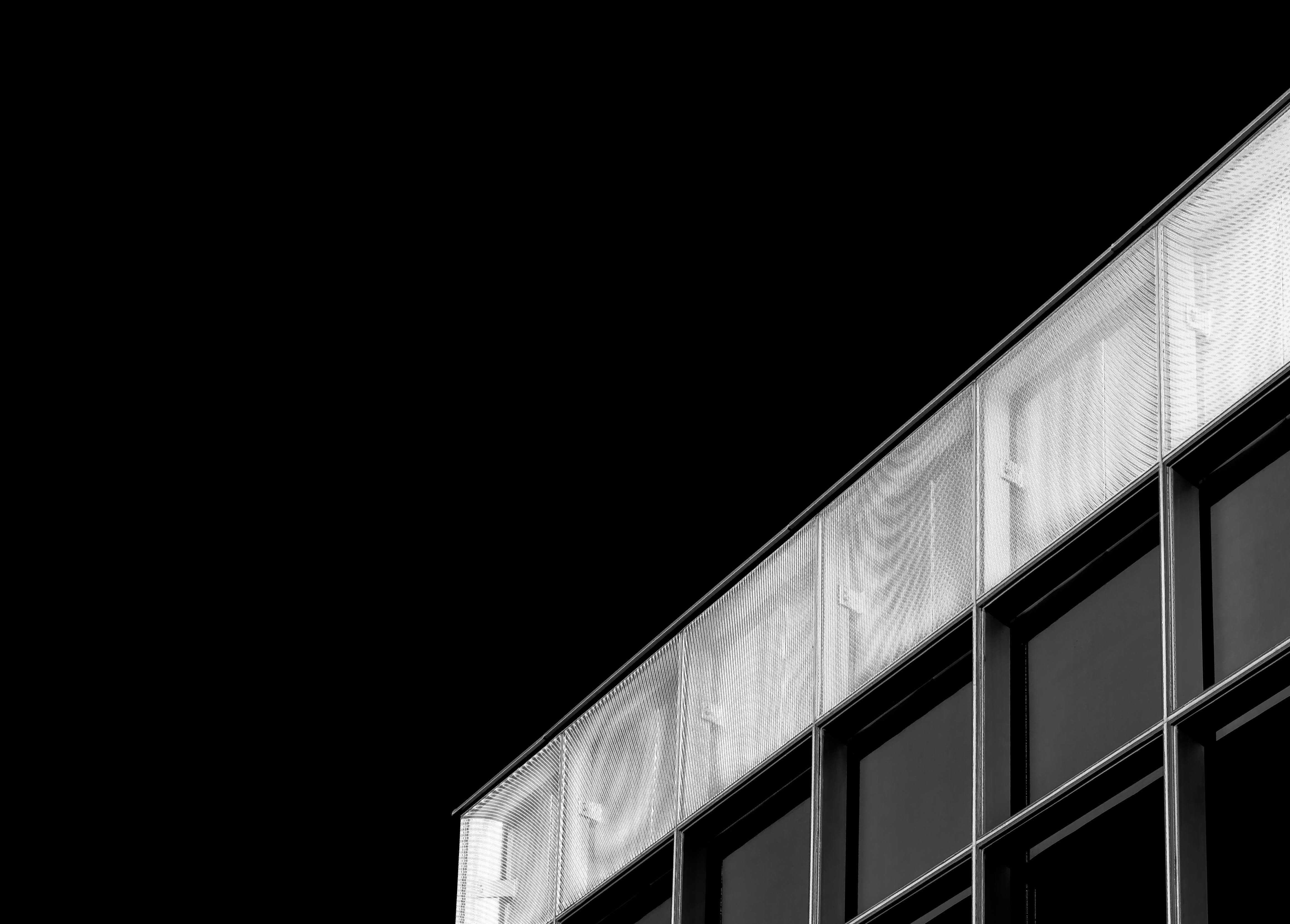 Free stock photo of building, architecture, window, black and white
