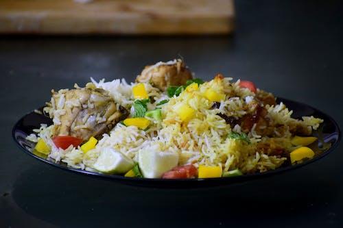 Free stock photo of asian food, biriyani, lunch