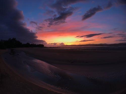 Free stock photo of Red sunrise, sunrise