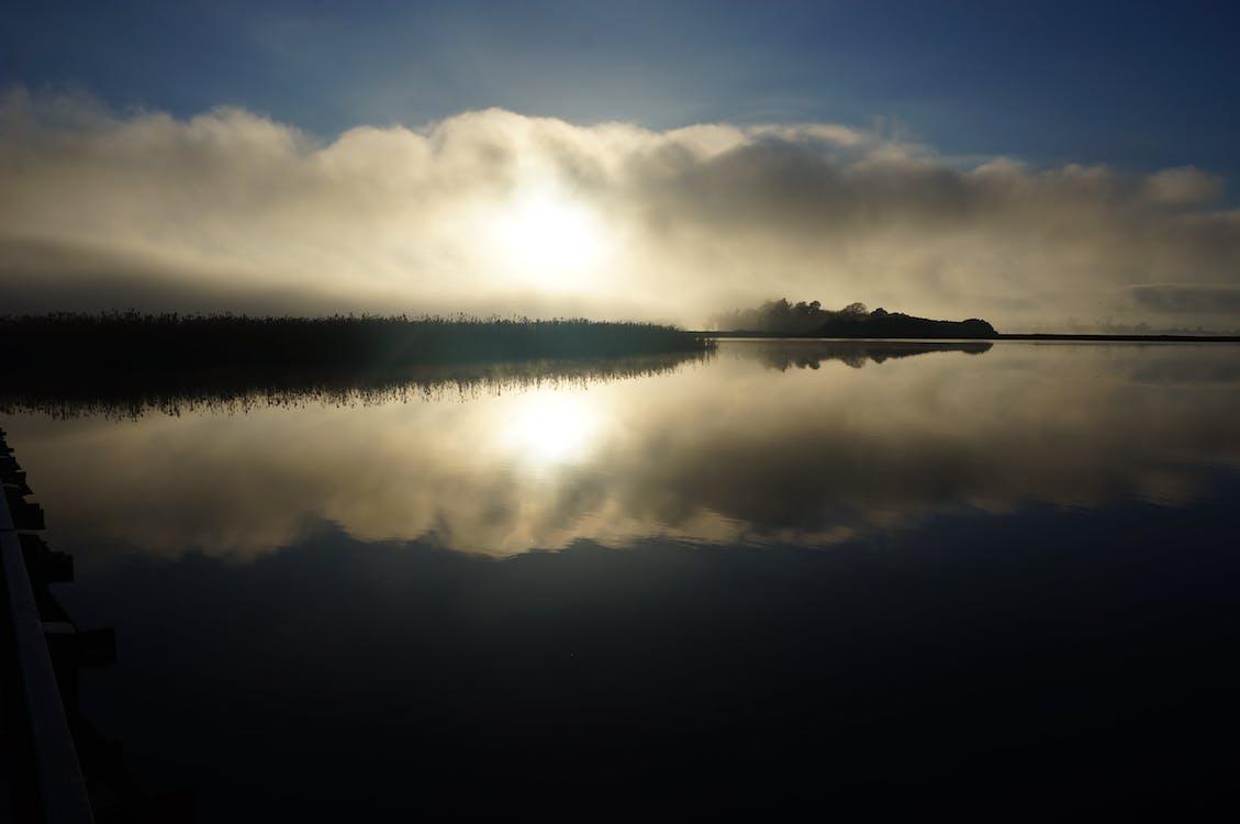 Free stock photo of fog, mist, reflections