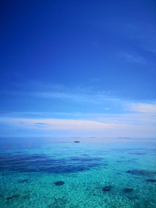 A Blue Sky over the Ocean