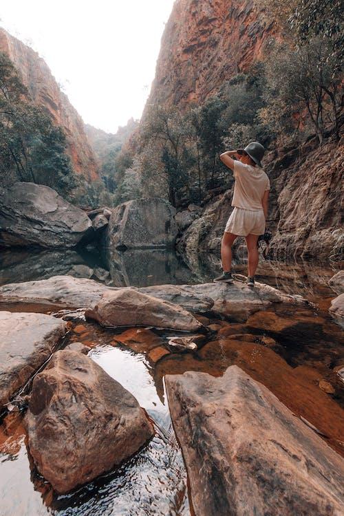Foto d'estoc gratuïta de a l'aire lliure, aigua, aventura, barranc