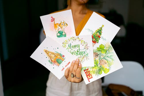 Woman Holding Happy Birthday Greeting Card