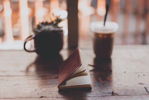 Free stock photo of caffeine, coffee, cup, notebook