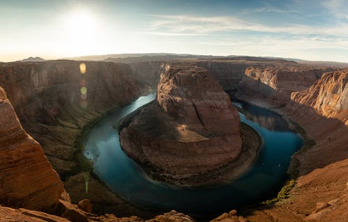 Geological Formation Surrounded by Water