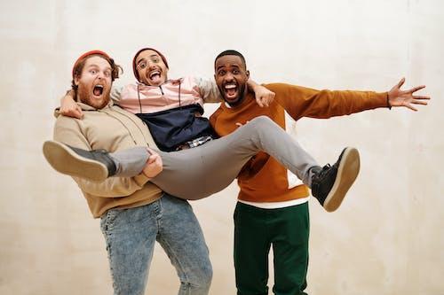 Multiracial Men in a Fun Photoshoot