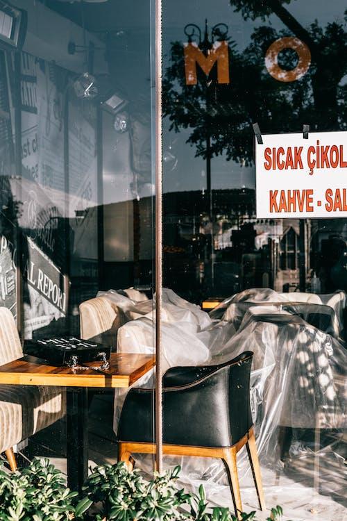Photos gratuites de à travers le verre, brillant, cafétéria, chaise