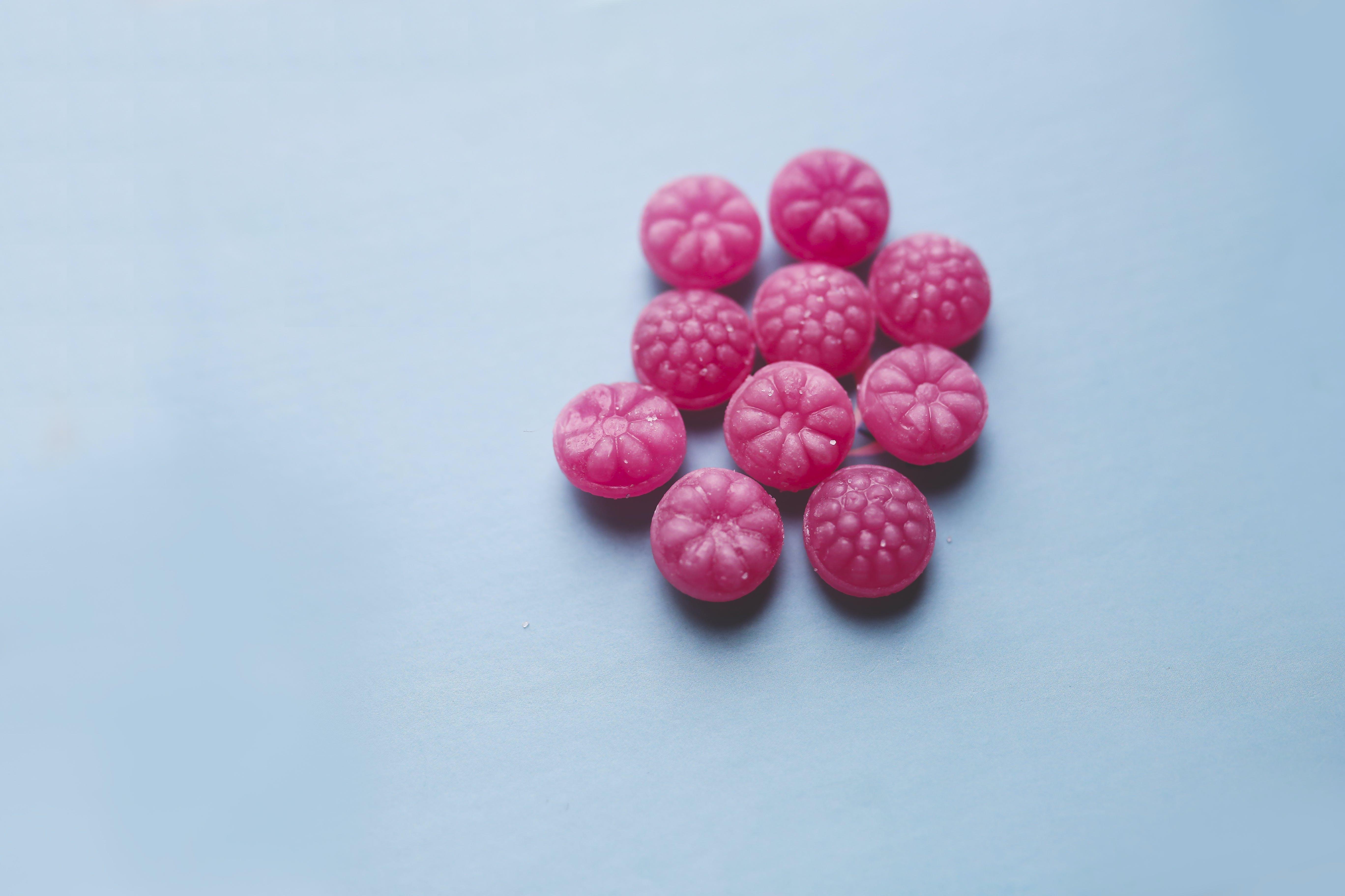 Sweet pink candies