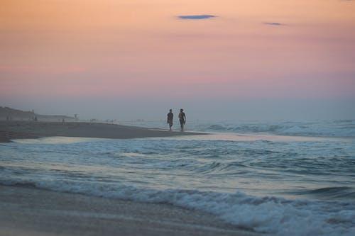 2 Person Walking on Beach